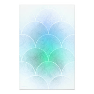 Mermaid Scales Personalized Stationery