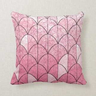 Mermaid Scales. Pink. Throw Pillow