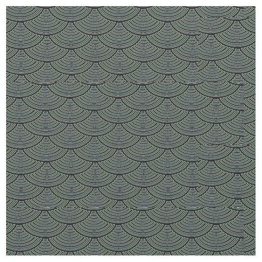 mermaid scales Thunder_Cove black/grey Fabric