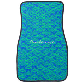 mermaid scales Thunder_Cove blue/aqua Floor Mat