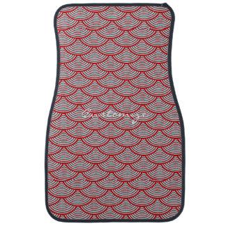 mermaid scales Thunder_Cove grey/red Car Mat
