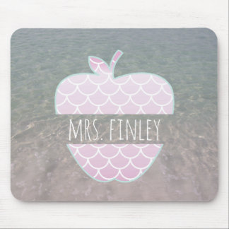 Mermaid Scales Water Apple Personalized Teacher Mouse Mat