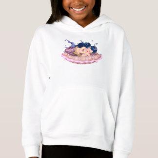 MERMAID SEA  CARTOON Girls' Fleece Pullover Hoodie