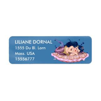MERMAID SEA  CARTOON Return Address Labels
