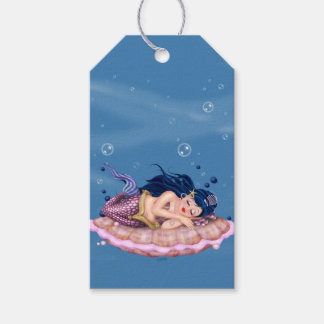 MERMAID SEA FAIRY CARTOON GIFT TAG MATTE