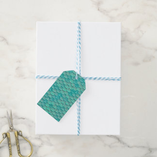 Mermaid Sea Green Scales Gift Tags