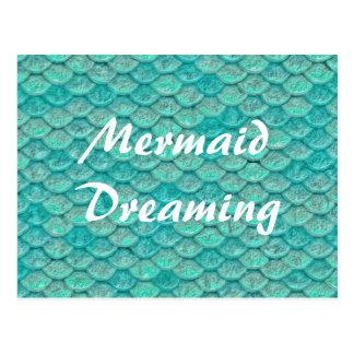 Mermaid Sea Green Scales Postcard