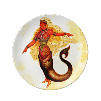 Mermaid Sea Nymph  Porcelain Plate