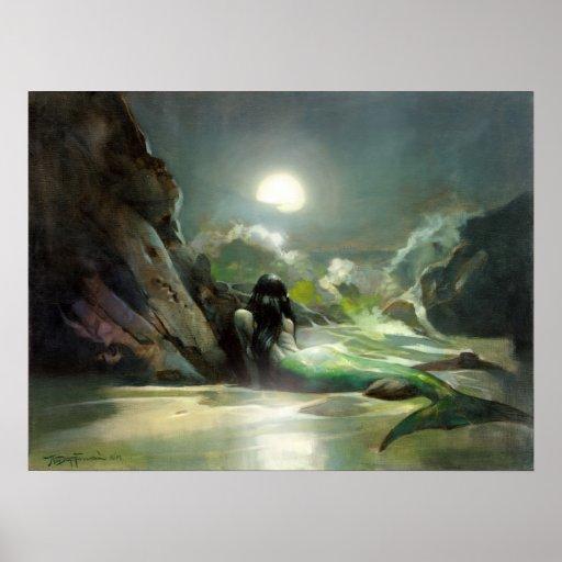 Mermaid Sea Reverie Poster