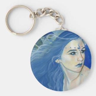 Mermaid shades of blue Keychain