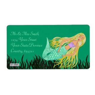 Mermaid Shipping Label
