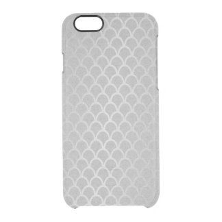 Mermaid Silver Gray Graphite Minimal Waves iPhone Clear iPhone 6/6S Case