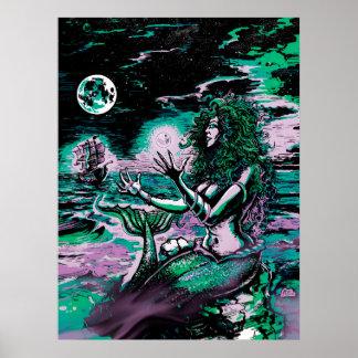 Mermaid Siren Atlantis Pearl Poster