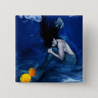 Mermaid Sleeping at the Bottom of the Ocean 15 Cm Square Badge
