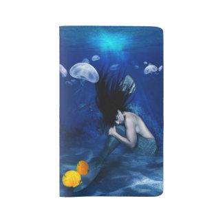 Mermaid Sleeping at the Bottom of the Ocean Large Moleskine Notebook