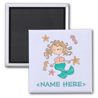 Mermaid Square Magnet
