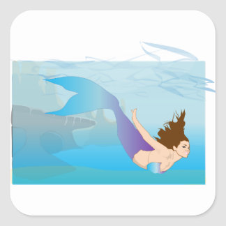 Mermaid Square Sticker
