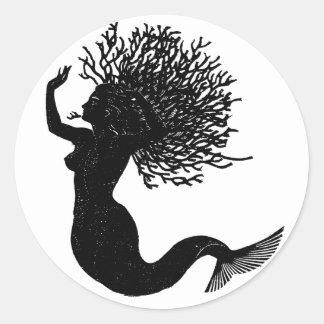 Mermaid Round Sticker