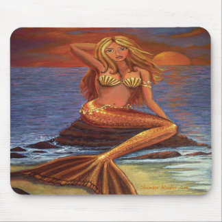 Mermaid Sunset - Mouse Pad