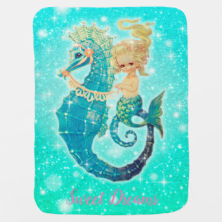 Mermaid Sweet Dreams Baby Girl Blanket