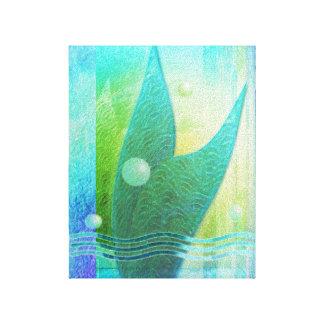 Mermaid Tail Abstract 3 Canvas Print