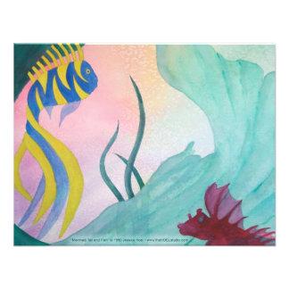 Mermaid Tail Fish Invitation