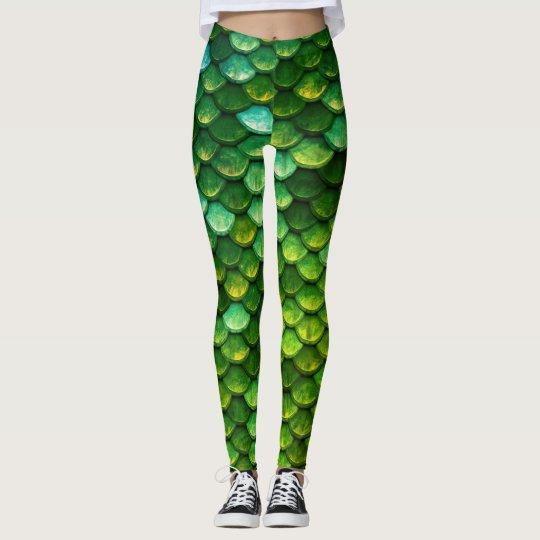 Mermaid Tail Scales Print Leggings