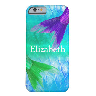 Mermaid Tails & Scales Teal Purple Barely There iPhone 6 Case
