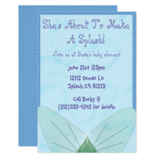 Mermaid themed baby shower invitation
