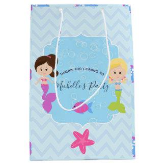 Mermaid themed Birthday Party Guest favor Medium Gift Bag