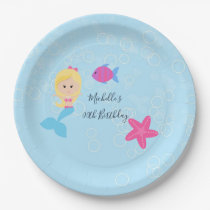 Mermaid themed Birthday Party Paper Plate