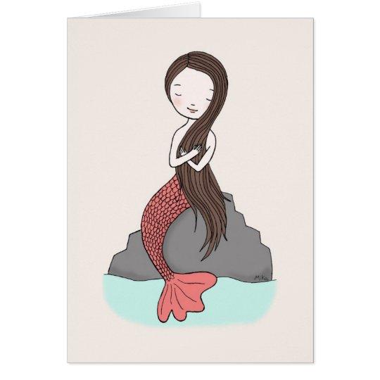 Mermaid Thinking Of You Card Mermaid Love card
