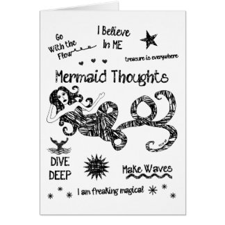 Mermaid Thoughts Card
