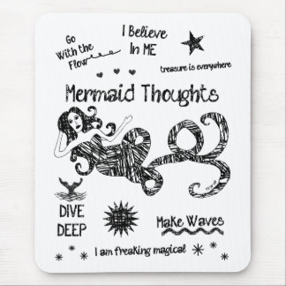 Mermaid Thoughts Mouse Mat