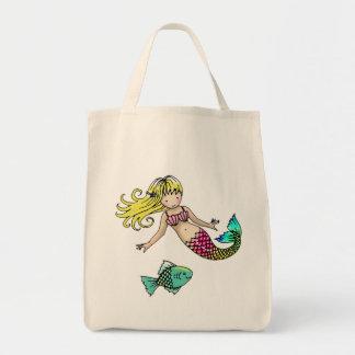 Mermaid Tote Bag by Molly Harrison