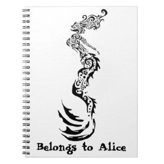 Mermaid Tribal Spiral Notebook