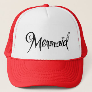 Mermaid - trucker hat red