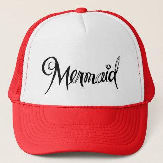 Mermaid - trucker hat red