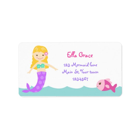 Mermaid Under The Sea Address Labels