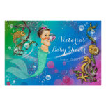Mermaid Under The Sea Baby Shower Poster