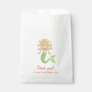 Mermaid Under the Sea Favor Bags Favour Bags