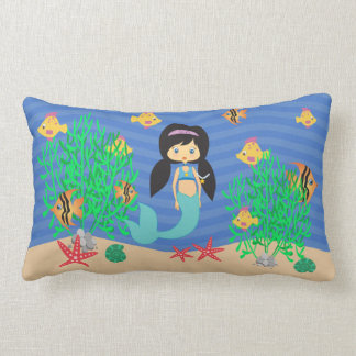 Mermaid Under The Sea Lumbar Pillow