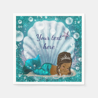 Mermaid Under The Sea Paper Napkins