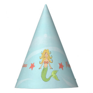 Mermaid Under the Sea Paper Party Hat