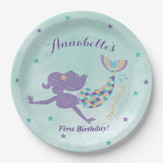 Mermaid Under The Sea Party Paper Plates