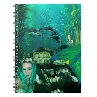 Mermaid Underwater Treasures Spiral Notebook