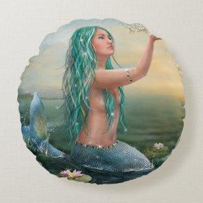 mermaid & unicorn round cushion
