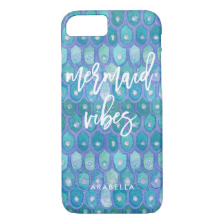 Mermaid Vibes | Modern Teal and Typography iPhone 8/7 Case
