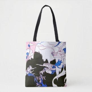 Mermaid Vintage Print tote bag