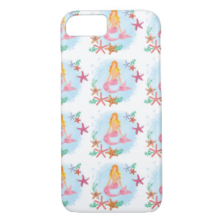 Mermaid Watercolor Sea Shells iPhone 7 iPhone 7 Case